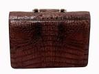 Портфель из натуральной кожи крокодила