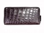 Портмоне на молнии из кожи крокодила