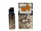 Чехлы для сигарет и зажигалки из кожи питона