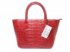Женская сумка из кожи крокодила розовая Артикул