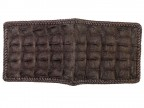 Кошелек из крокодила с оплеткой по краю