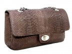 Женская сумочка из кожи питона на цепочке