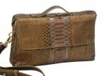 Эксклюзивная сумка из кожи питона Gold