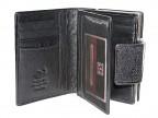 Женский кошелек с большой монетницей из ската