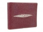 Красный мужской кошелек из морского ската