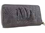 Мужской клатч с лапой крокодила на 2-х молниях