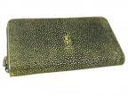 Эксклюзивный клатч из кожи ската Аntique gold