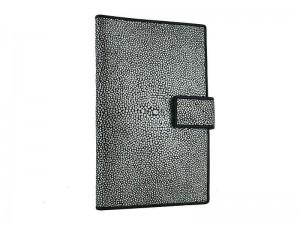 Большое портмоне из ската Аntique silver