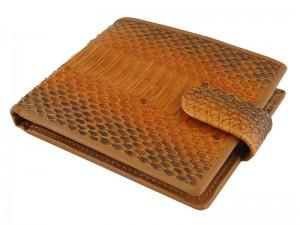 Мужской кошелек из кожи водной змеи