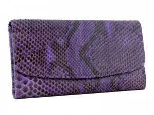 Женский кошелек из кожи питона (Лаванда)