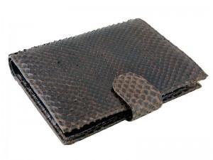 Классическое портмоне из кожи питона
