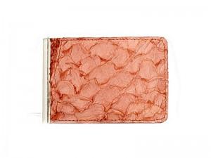 Зажим для денежных банкнот из кожи сазана