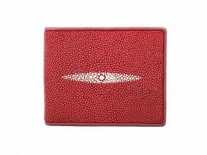 Мужской кошелек из ската (красный)
