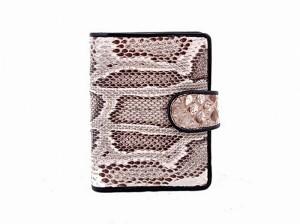 Визитница-кошелек из кожи питона