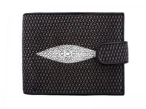 Мужской кошелек из кожи ската