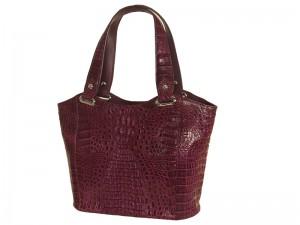Женская сумка из кожи крокодила