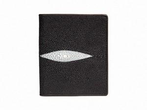 Тонкое портмоне из кожи ската