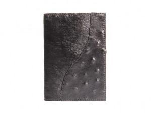 Обложка для паспорта из кожи страуса