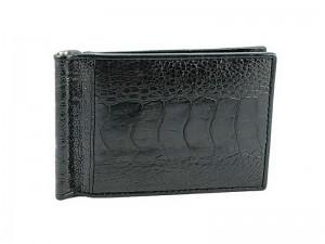 Зажим для денежных банкнот из кожи страуса