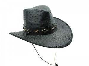 Шляпа ковбойская из страусовой кожи
