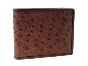 Мужской кошелек из кожи страуса