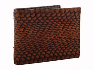 Стильный кошелек из кожи кобры