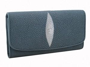 Большой женский кошелек из кожи ската