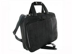 Деловая сумка из кожи питона
