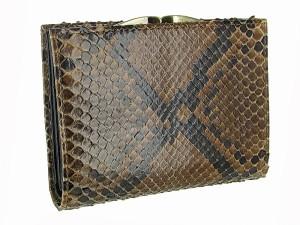 Женский кошелек из настоящей кожи питона