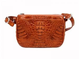 Модная мужская сумка из лоскутной кожи крокодила