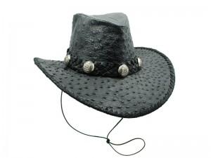 Шляпа ковбойская из кожи страуса