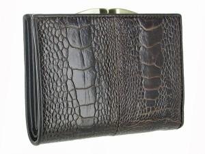 Женский кошелек из страусиной кожи