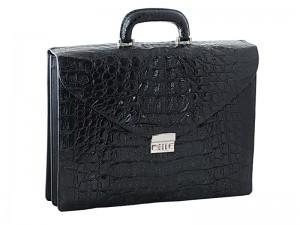 Крупный мужской портфель из крокодиловой кожи