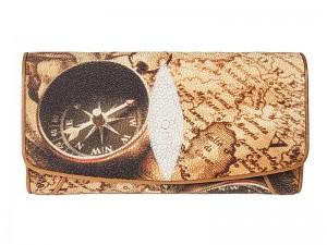 Стильное женское портмоне из кожи ската