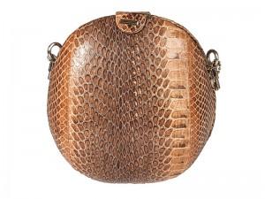 Женская сумочка из натуральной кожи кобры