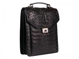 Компактный мужской портфель из крокодила