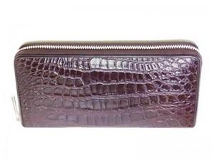 Мужской клатч из кожи с брюха крокодила
