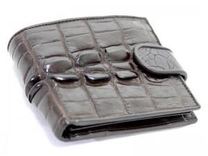 Мужской кошелек из крокодиловой кожи