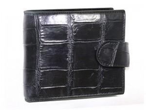 Мужской кошелек из кожи с живота крокодила