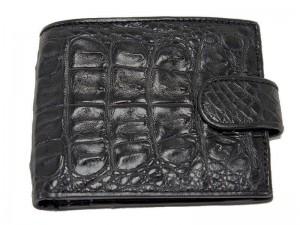 Мужской кошелек из крокодила с монетницей