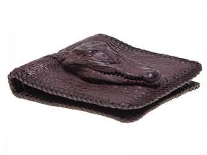 Мужской кошелек с головой крокодила