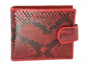 Стильный мужской кошелек из кожи питона