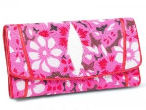 Женское портмоне из кожи ската морского