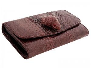 Женский кошелек с монетницей из кобры