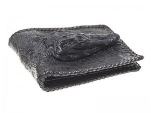Крутой мужской кошелек из кожи крокодила