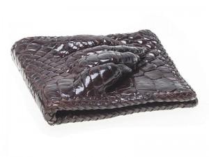Мужской кошелек из кожи крокодила с лапой