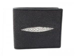 Мужской бумажник из кожи морского ската