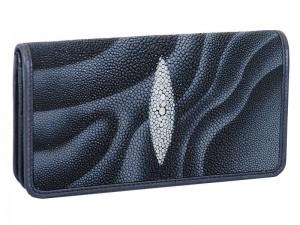Оригинальное портмоне из кожи ската Grey Wave