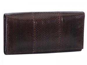 Кошелек из кожи морской змеи с монетницей