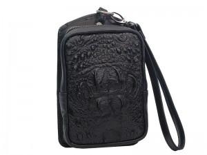 Мужская сумочка на ремень из крокодила